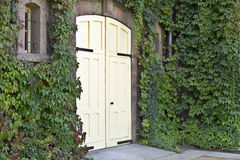 Huge wine cellar doors Stock Photo