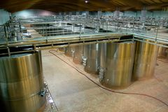 Huge wine vats Royalty Free Stock Photos