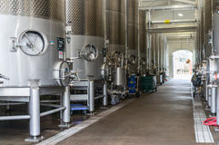 Large wine vats. Huge wine vats at a Napa Valley winery Stock Images