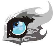Huge wolf eye Stock Images