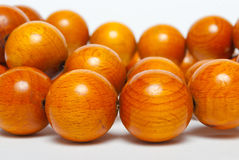 Huge wood beads Royalty Free Stock Image