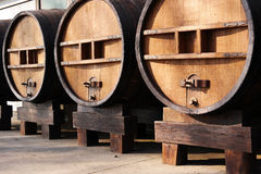 Huge wooden barrels Stock Photography