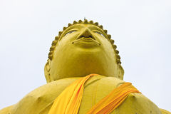 Huge yellow buddha statue Royalty Free Stock Photos