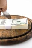hugga av dollar för block Fotografering för Bildbyråer