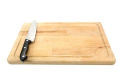 hugga av kniv för bräde royaltyfria foton