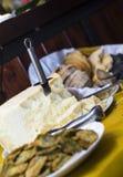 Hugga av parmesan Royaltyfria Foton