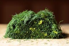Huggen av grön sallad Arkivbilder