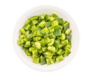 Huggen av grön spansk peppar II arkivbilder