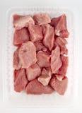 huggen av meatpork fotografering för bildbyråer