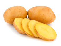 Huggen av potatis arkivbild