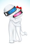 Hugging 3d Couple in Vector Royalty Free Stock Images