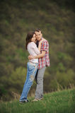 Hugging Attractive Couple Stock Photos