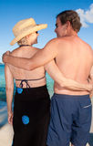 Hugging on a beach Royalty Free Stock Photography