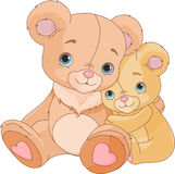 Hugging  bears Royalty Free Stock Image