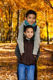 Hugging boys Royalty Free Stock Image