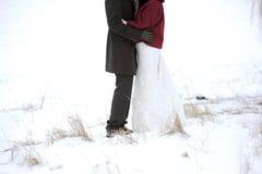 Winter Hug Stock Photos