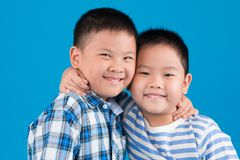 Hugging brothers Royalty Free Stock Photo