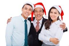 Hugging business team Stock Photos