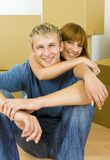 Hugging couple Stock Images