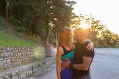 Hugging couple royalty free stock photo