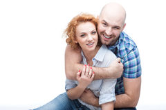 Hugging couple Stock Photos