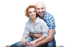 Hugging couple Royalty Free Stock Image