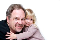 Hugging dad Stock Image