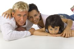 Hugging family Stock Photos