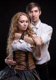 Hugging gentle loving couple Stock Photo