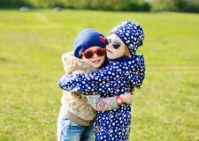 Hugging girls Stock Photos