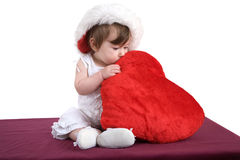 Hugging the heart Stock Images