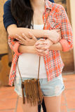 Hugging lesbian couple Royalty Free Stock Images