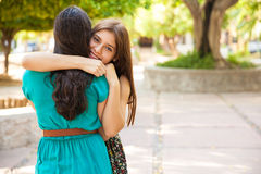 Hugging my best friend Stock Photography