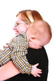 Hugging my mommy Stock Photography