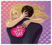 Hugging pair. Stock Images