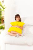 Hugging pillow Stock Photography