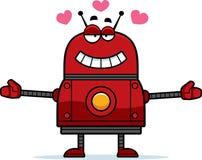 Hugging Red Robot Royalty Free Stock Photo