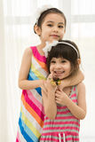 Hugging sisters Royalty Free Stock Photography