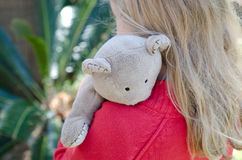 Hugging teddy Royalty Free Stock Image