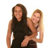 Hugging teenage girlfriends Royalty Free Stock Photo