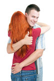 Hugging woman and man Stock Photography