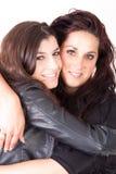Hugging women Stock Photo