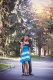 Hugging young couple portrait Stock Images