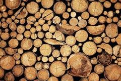 huggit av trä Arkivbild