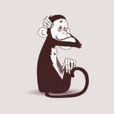 猴子huggs头 图库摄影