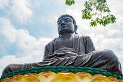 Hugh Buddha staty i landskap för Buddha för åtta Trigramberg Arkivfoto