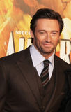 Hugh Jackman. Australian actor and heartthrob, Hugh Jackman, arrives on the red carpet for the premiere of this starring vehicle, the sweeping epic story Royalty Free Stock Images