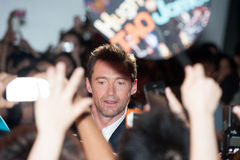 Hugh Jackman. August 28, 2013 : Tokyo, Japan – Hugh Jackman appears at the Japan Premiere for The Wolverine by James Mangold in the Roppongi Hills, Tokyo Royalty Free Stock Photography