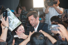 Hugh Jackman. August 28, 2013 : Tokyo, Japan – Hugh Jackman appears at the Japan Premiere for The Wolverine by James Mangold in the Roppongi Hills, Tokyo Royalty Free Stock Photos