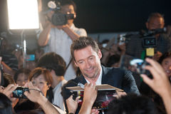 Hugh Jackman. August 28, 2013 : Tokyo, Japan – Hugh Jackman appears at the Japan Premiere for The Wolverine by James Mangold in the Roppongi Hills, Tokyo Royalty Free Stock Images